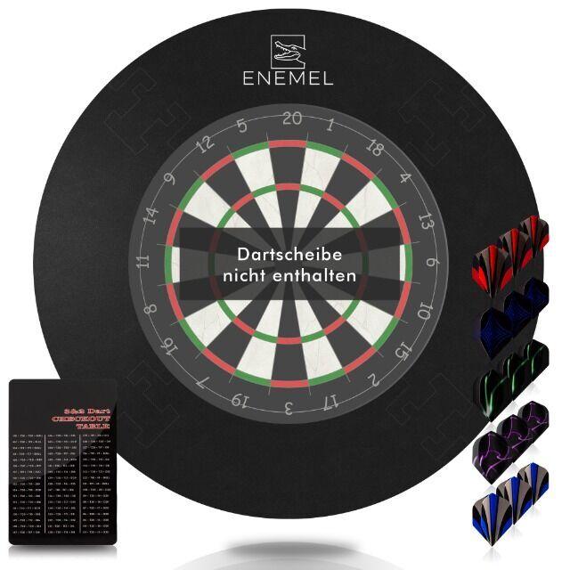 Dartscheibe 2 Pfeile 24,5cm Dartboard Wurfscheibe Dart Dartspiel Zielscheibe